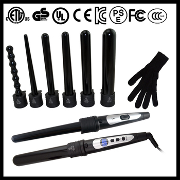interchageable barrels hair curler Roller Curling Iron Ceramic 5 in 1 curling wand