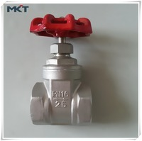 China Manufacturer Non-Rising Stem Class 150LB Screwed End Water Stainless Steel Gate Valve