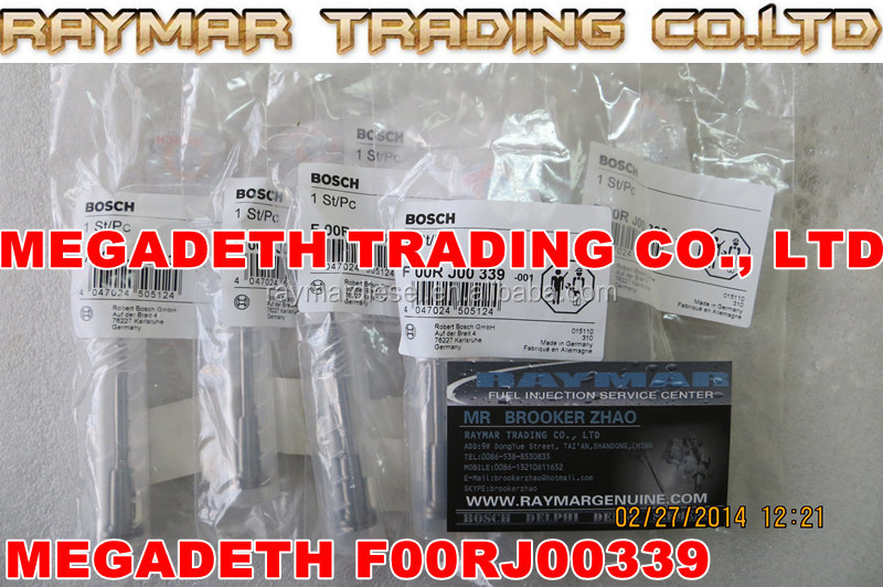 BOSCH Common rail injector valve F00RJ00339 for 0445120007, 0445120018, 0445120032