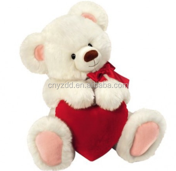 Free sample plush teddy bear animal new dog toy with heart
