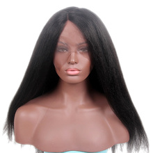 2017 Newest Hair Product Guangzhou Long Black Fashion U Part Synthetic Lace Front Wig For Black Women