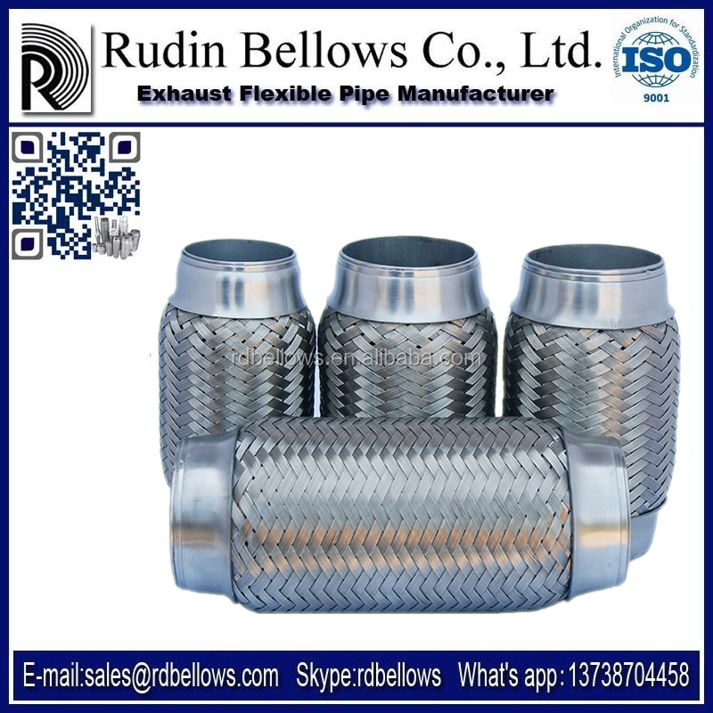 Ruian Rudin absorb shock exhaust flexible pipe wholesale exhaust mufflers