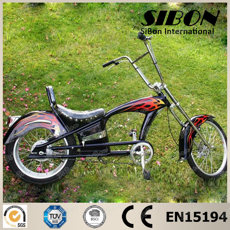 "SIBON new 24""-20"" middle lithium battery american style chopper bike"