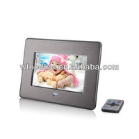 2016 new 7 inch metal silver digital photo frame