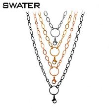 4.0mm Fashion Coin Locket Necklace Chain New Gold Chain Design Girls