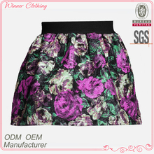 Ladies Elastic Waist Hot Sexy Yarn Dye Design Young Girls In Short Skirts