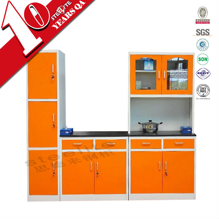 Fair price furniture powder coating knock down steel for Ready made kitchen units
