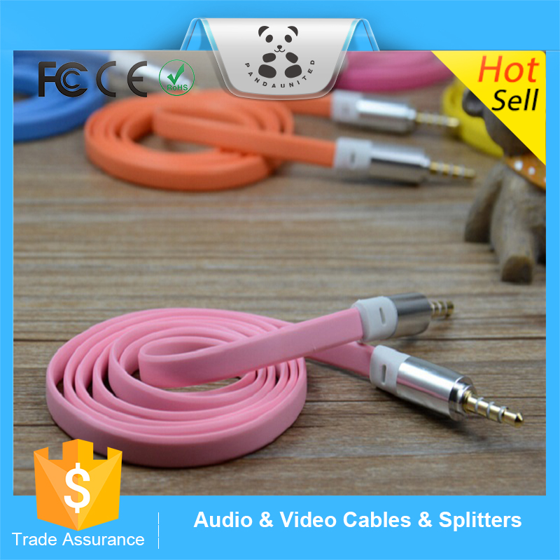 New China Product 1m 3.5mm male to male L Plug Stereo AUX Audio Cable for Monster beats headphone cell phone