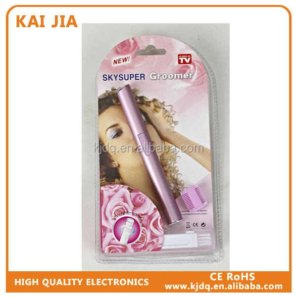 fashionable lady brows prune/precision perfect eyebrow trimmer/portable battery eyebrow razor