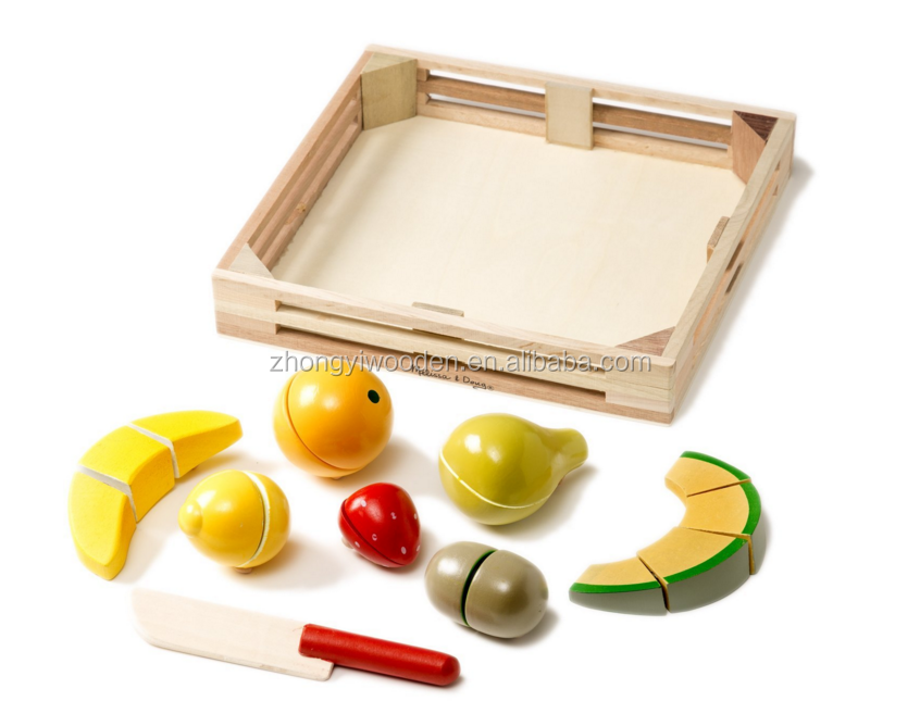 factory sale FSC home wooden kids toy storage tray crate