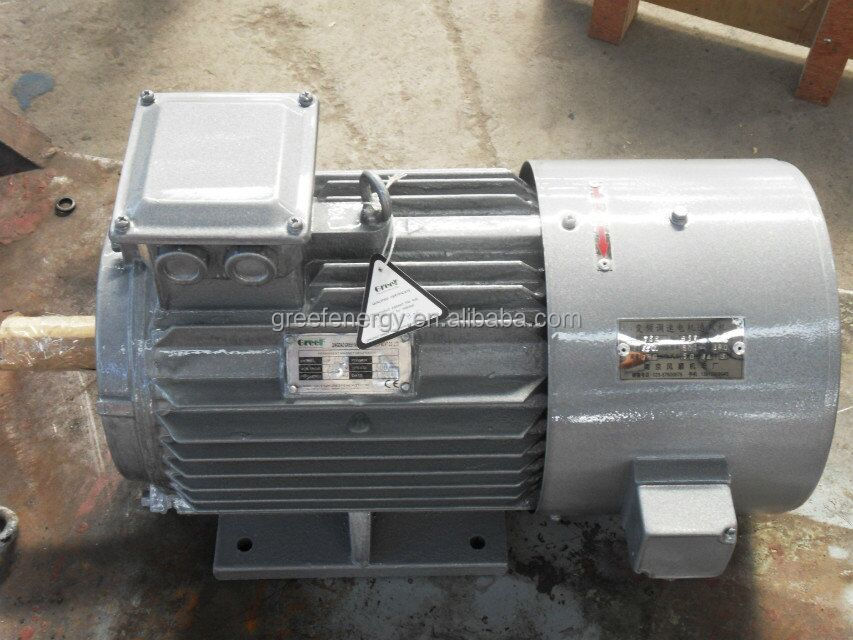 Water powered generator, 50 rpm permanent magnet alternator generator, ac 3phase dynamo for wind turbine