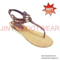 2012 fancy ladies thong women shoes