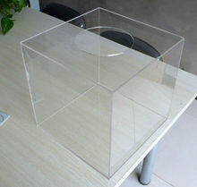 Clear acrylic lucky draw box,Acrylic donation box