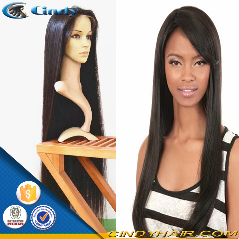 chinese factory wholesale high quality cheap price very long india 30 inch human hair front lace wigs