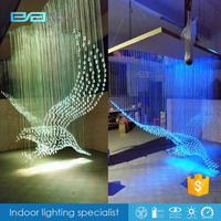 7 color eagle Optical fibers lamp star ceiling projector night light 2101655