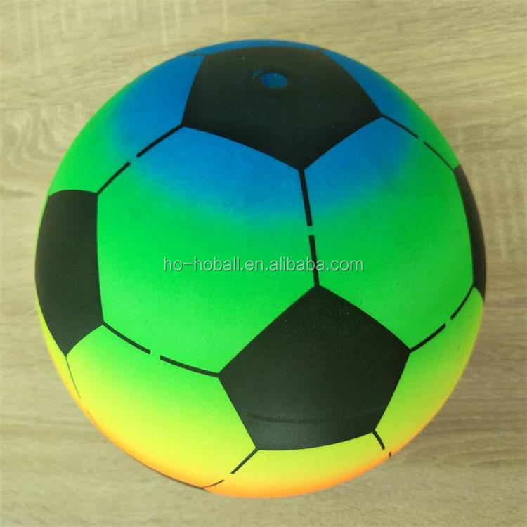 "Soccer ball PVC Neon 8.5"" kids sports inflatable toy balls"