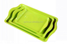 Green 2 Handled Melamine Serving Tray Set Of 3 Pieces