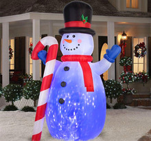 garden outdoor inflatable lighted christmas snowman