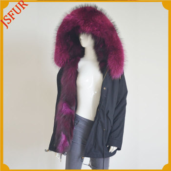 Jsfur Wholesale Parka Clothes With Real Fox And Raccoon Fur