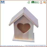 high quality cheap outdoor hanging wooden birds house for kit