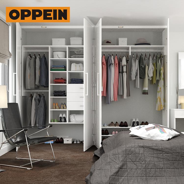 Oppein Modern Simplicity Bedroom Mdf Double Door Wardrobe Design