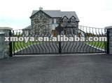 Front wrought door retractable metal fences elements gate retractable fence gate