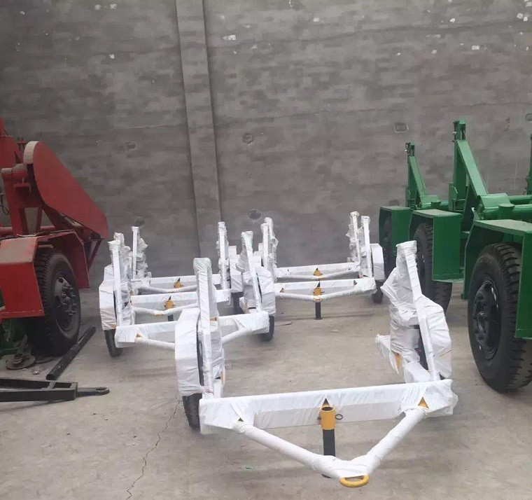 1.5T cable reel trailer made in CHINA/ Steel wire drum trailer supplier/Mini cable drum trailer