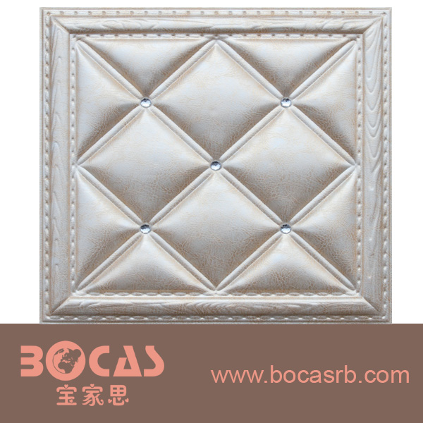 3d beautiful leather PU wall panel board ceiling also color as you need