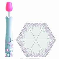 flower shape bottle umbrella