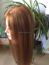 26'' Straight highlights color 100% Unprocessed Virgin Brazilian Human Hair Silk Top Front Lace Wig