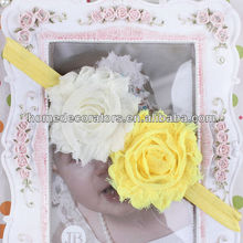 2014 cute baby lace flower Headband two flowers