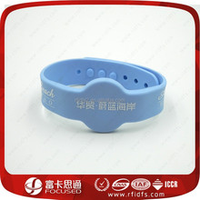 Focused Promotional LOGO Printing elastic rfid wristban