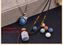 Lava Stones Beads Necklace Essential Oil Diffuser Necklace
