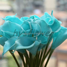 fabric pu Baby blue mini calla lily wholesale artificial calla lily for sale