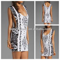 Nice printed pattern Jersey dress,clothes for women (YD20107)