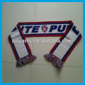 Custom whol sale knitted acrylic football scarf