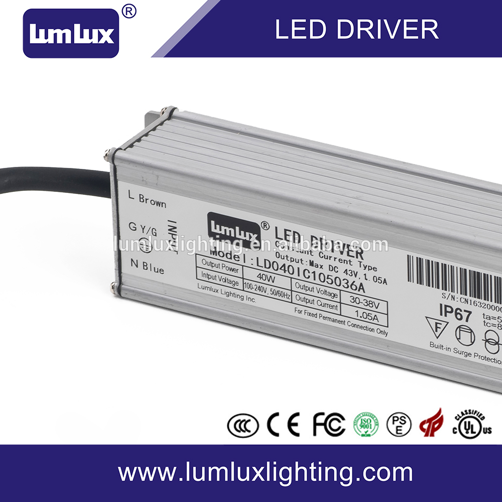 40W waterproof IP67 dimmable led driver in China 40W