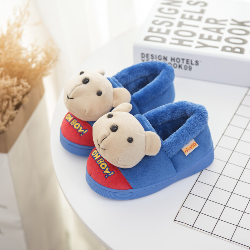 Winter new style cartoon bunny cotton slippers for 1-6years baby