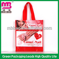 eco friendly PP woven photo shopping bag