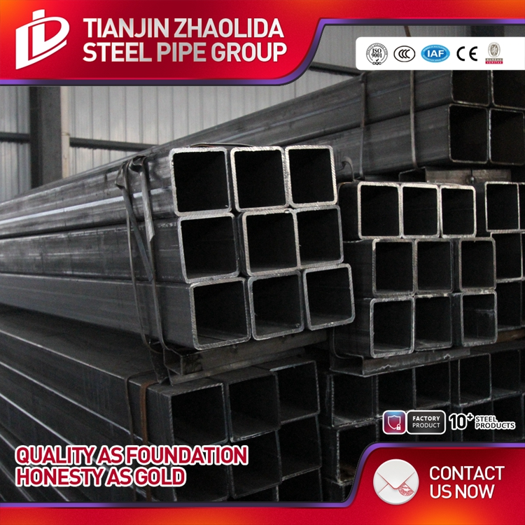 ASTM A500 Gr.B ms square tube steel pipes size factory
