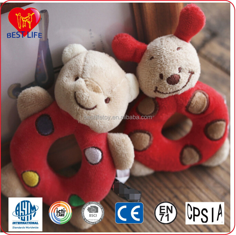 baby product funny soft plush toy baby rattle hand bell baby toys (PTAL0816153)