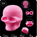 food grade 3ml skull shape silicone dab container jar,silicone dab wax container for glass water smoking