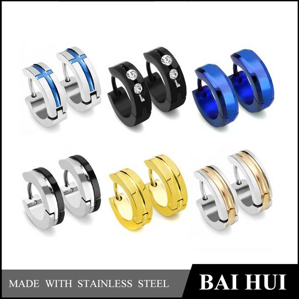 4MM Daily Wear Mens And Womens Huggie Hinged HoopEarring/316 Stainless Steel Fashion Designs Huggie Earring
