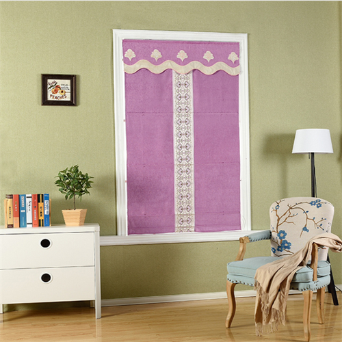 Elegant style curtain fabric roman blinds for Kids and Girls bedroom