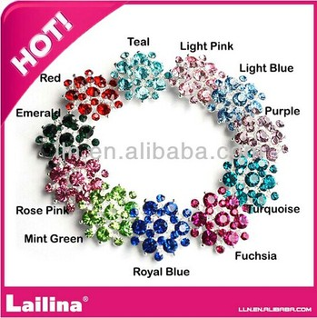 New Style Colorful Rhinestone Button 26mm