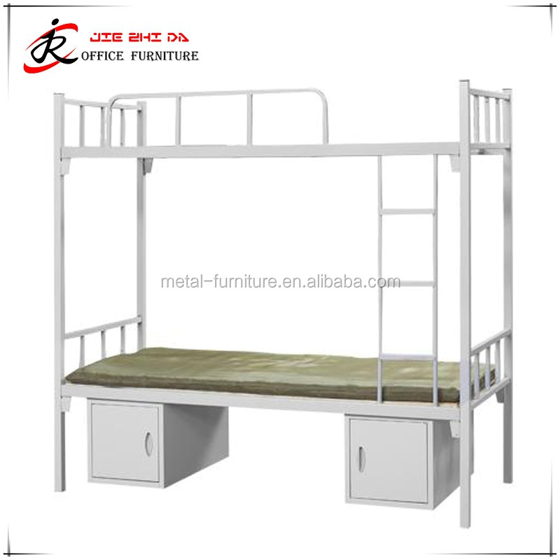 Cheap Used School Metal Material Bunk Bed with Under Lockers