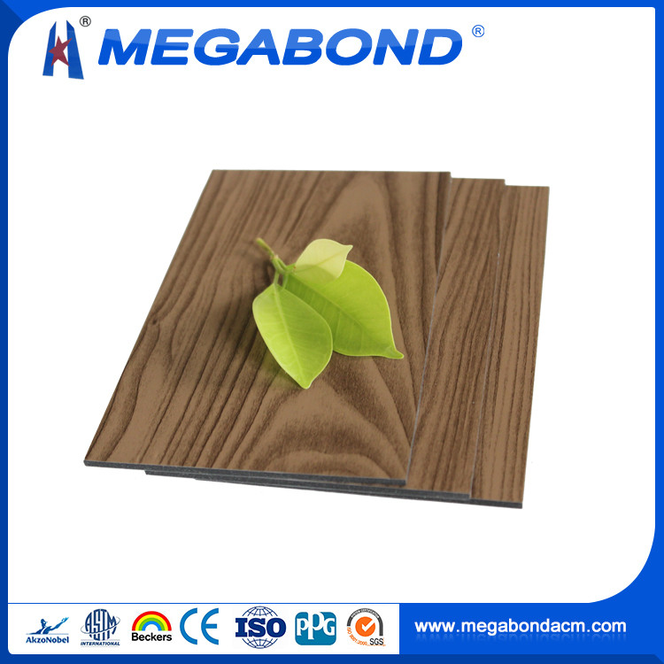 Megabond textured wooden aluminum composite panels
