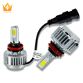 Wholesale! A336 all in one 3pcs 36w h11 COB auto LED headlight