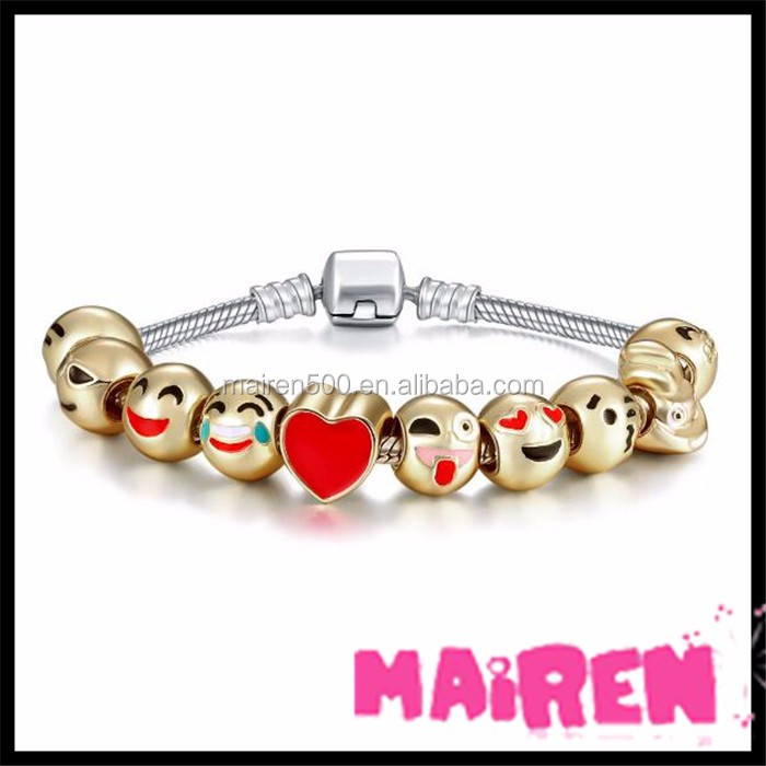 Christmas holiday collection emoji charm bracelet emoji
