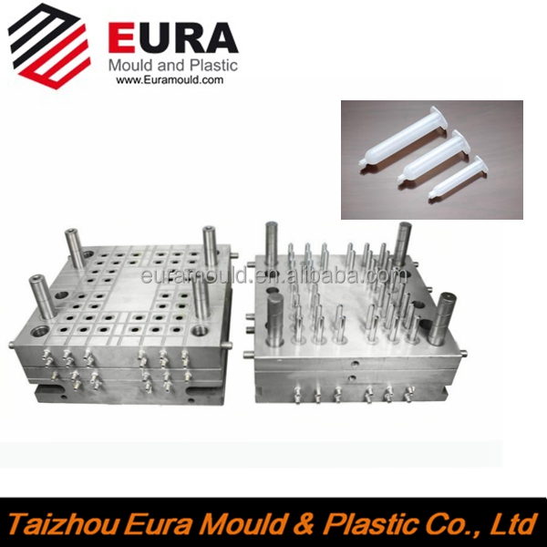 2.5ml/CC 3ml/CC 5ml/CC disposable plastic syringe mold, injection plastic medical syringe mold factory